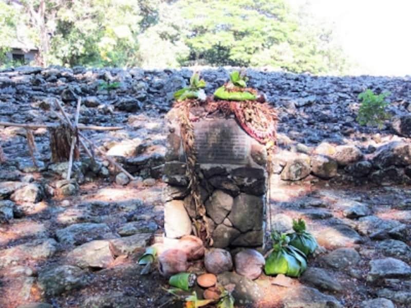 豊作の神を祀ったオアフ島カイルアのウルポ・ヘイアウ