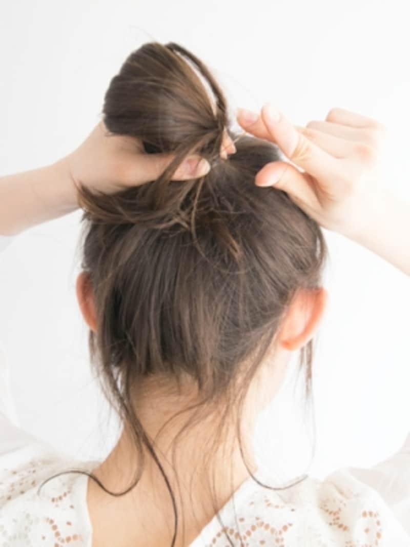 髪色に近いシリコンゴムを使用