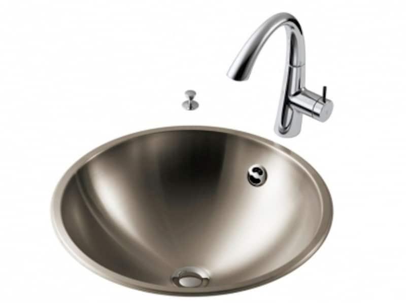 おさえた光沢が美しいステンレス製の洗面ボウル。[FRRNDX420]undefinedセラトレーディングhttps://www.cera.co.jp/