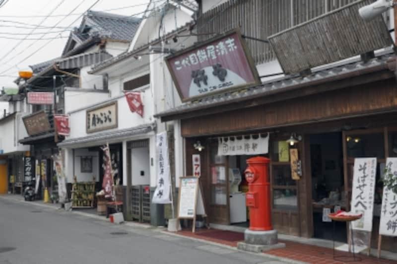 昭和の町の町並み