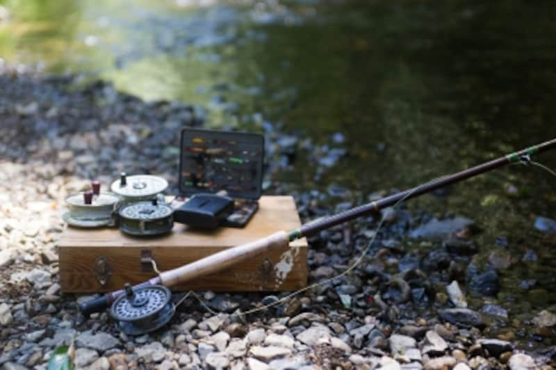 万江川の渓流釣り