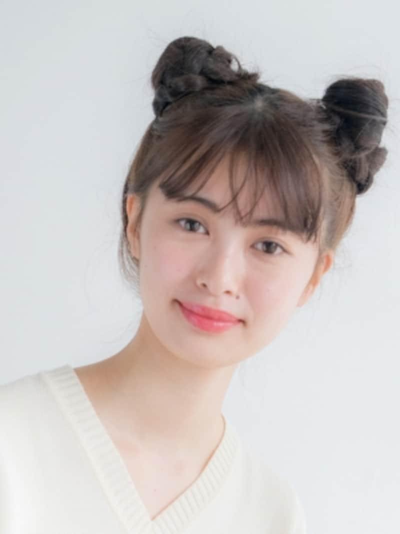 ライブ髪型・プチお団子ヘア