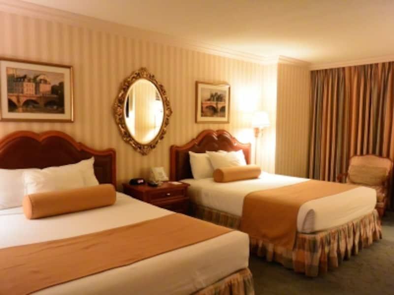 ラスベガスの中ランクホテルは、他のエリアの高級ランク以上の部屋で超リーズナブル