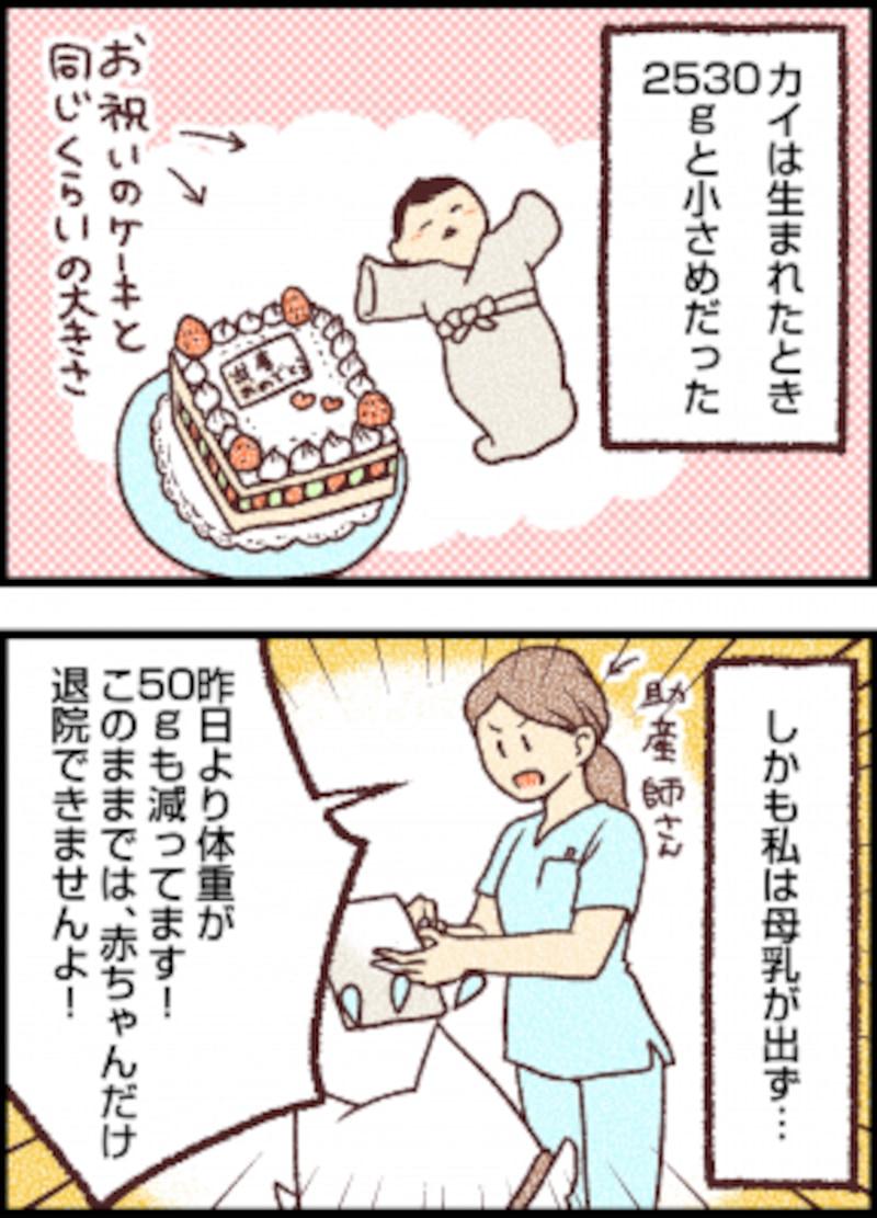 出生体重が小さめなのに母乳が出ずお腹を満たせてあげられない