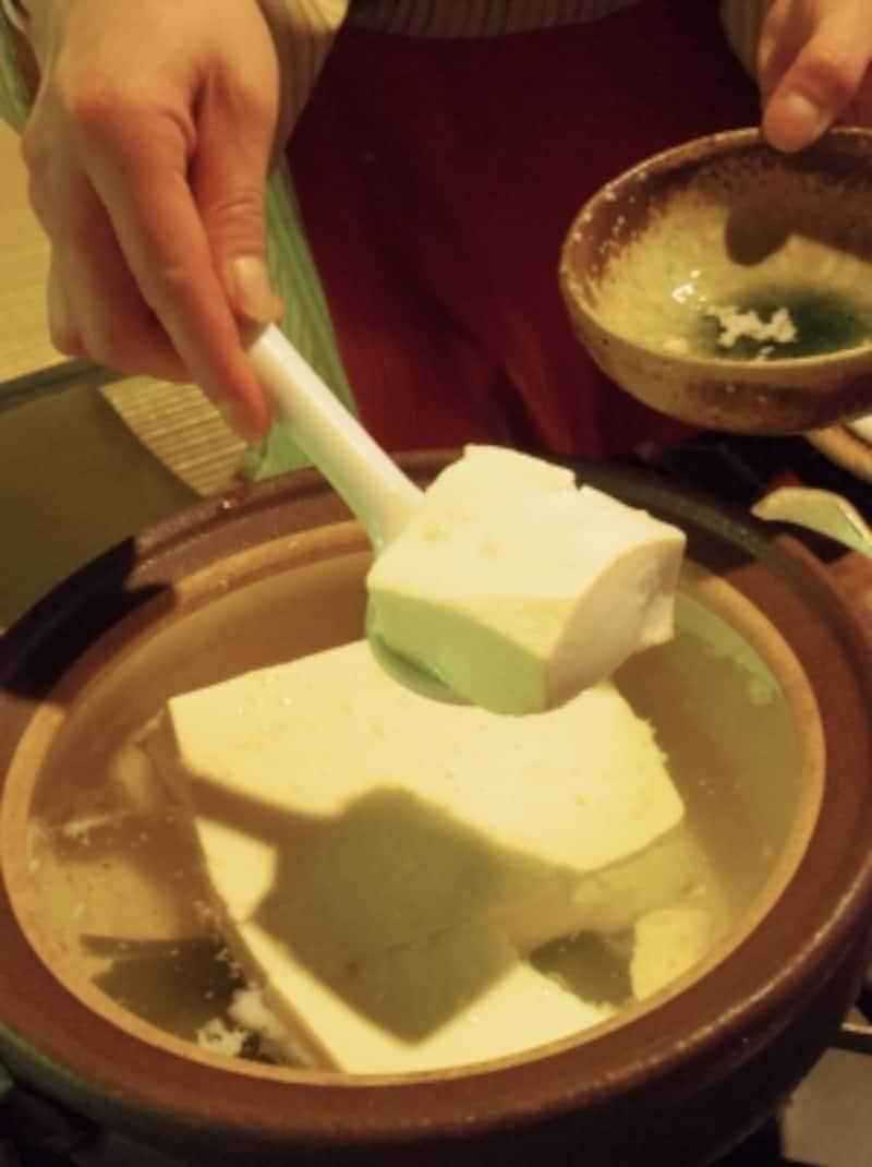 平野屋の湯豆腐