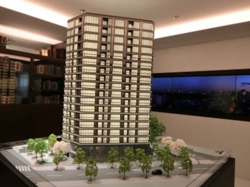 ブリリア一番町の完成予想模型