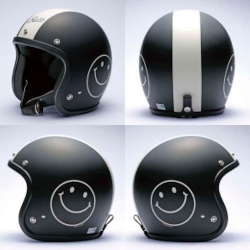 ジェットヘルメット[スマイルブコ](ブラック)