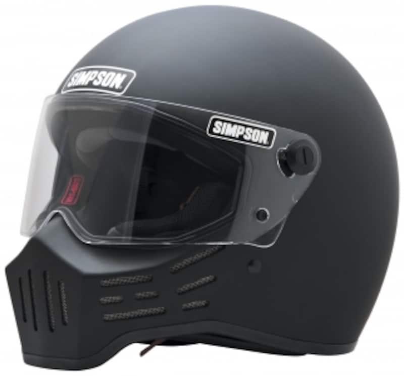 ハーレーでシンプソンと言えばこれ、「M30」。ビンテージヘルメットの世界では当時物に10万円以上の値がつく超人気レアヘルメットで、このM30はその復刻モデル