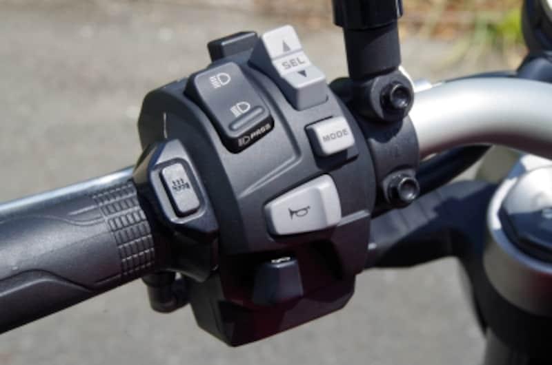 左ハンドルスイッチでモードチェンジが可能