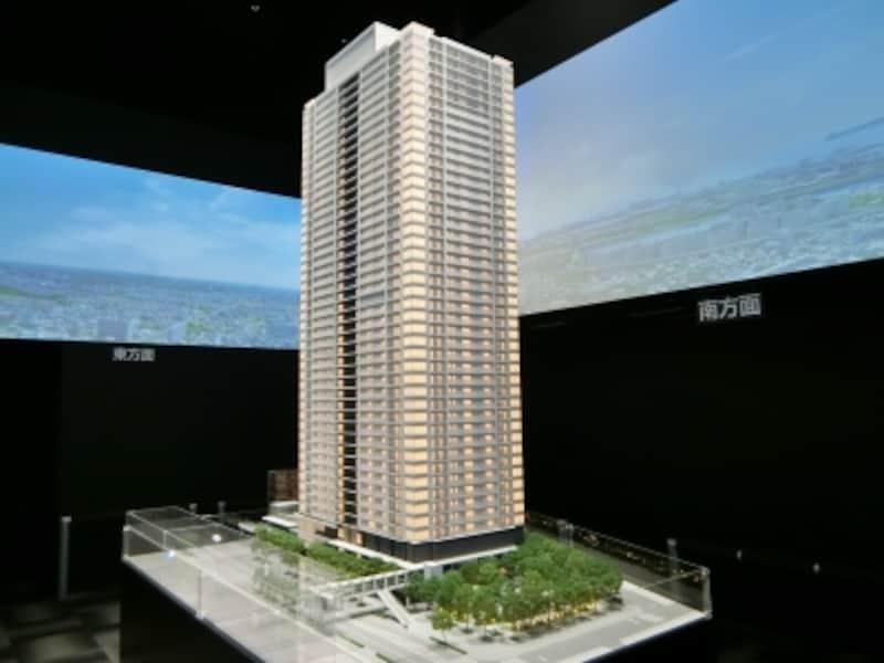 「津田沼ザ・タワー」の完成予想模型undefined