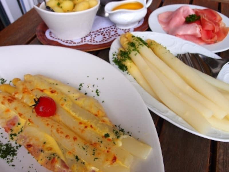シュパーゲル料理