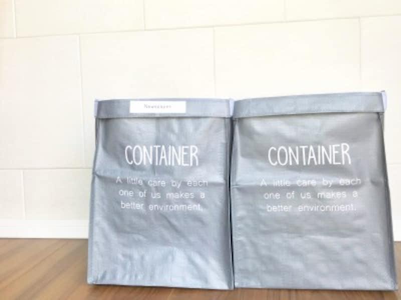 100均の収納ボックス:キャンドゥのバッグコンテナを2つ連結した物