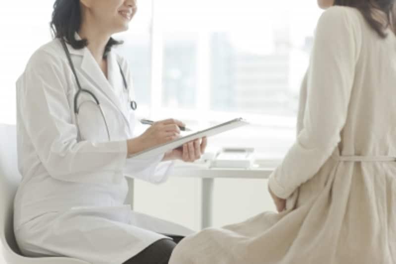 検査に臨む女性のイメージ画像