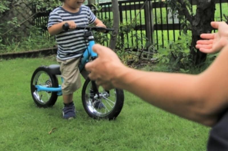 文字どおり、バランスの取り方を練習するバランスバイク