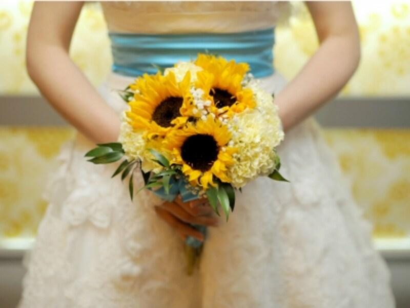 ひまわりは、結婚式のメインフラワーやプレゼントにもおすすめ