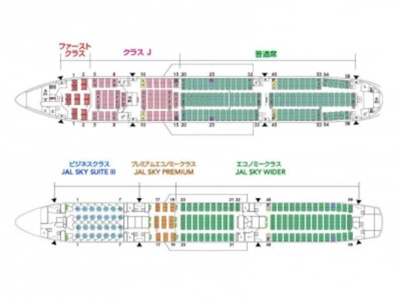 JAL,シートマップ