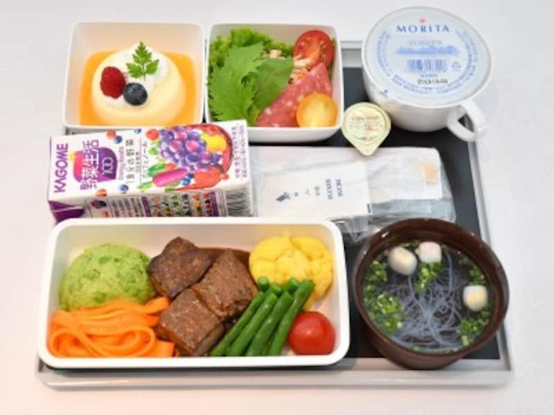 シンガポール航空,なごみ+,機内食