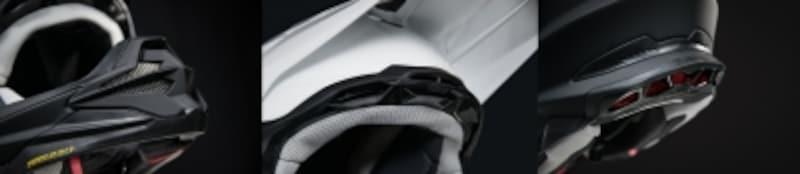 ロード用ヘルメットにはない独自の機能を有するオフロードヘルメット