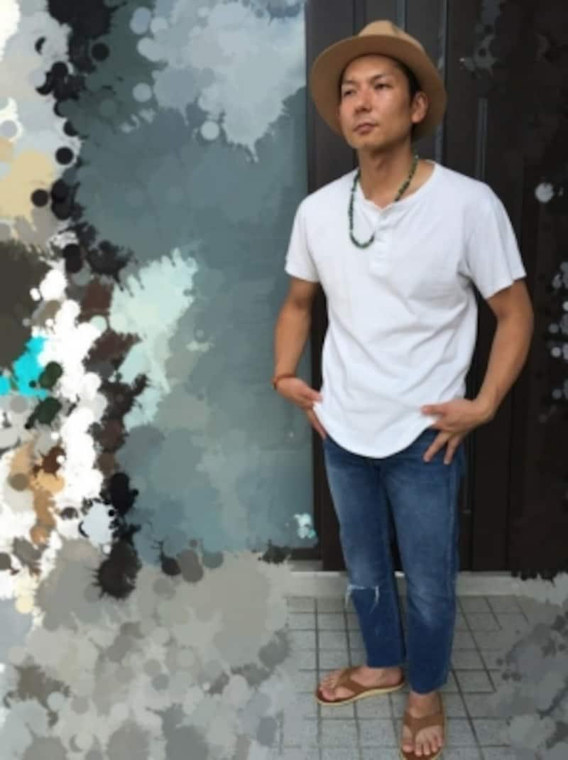AbeTatsumaのハットを使ったコーディネートundefined【出典:WEAR】