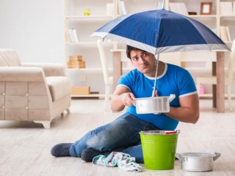 「水濡れ」は、建物内外の給排水設備の事故、他の戸室で生じた事故による水濡れ損害をカバーする