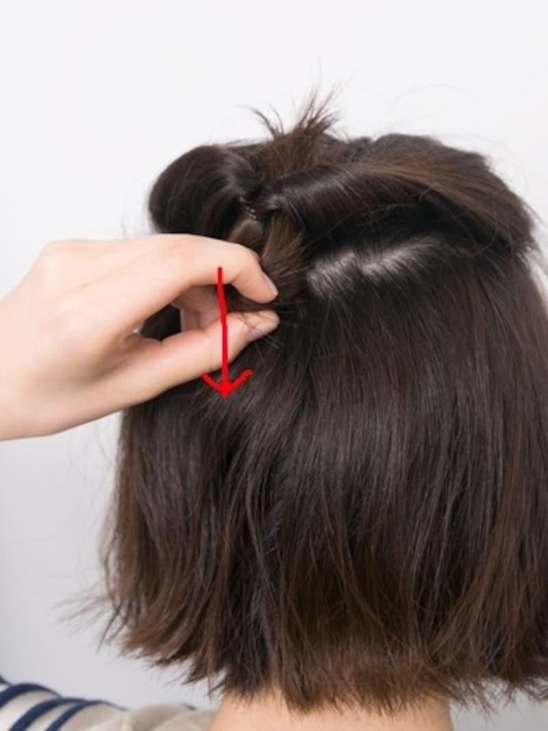 髪が全部通っているか確認する