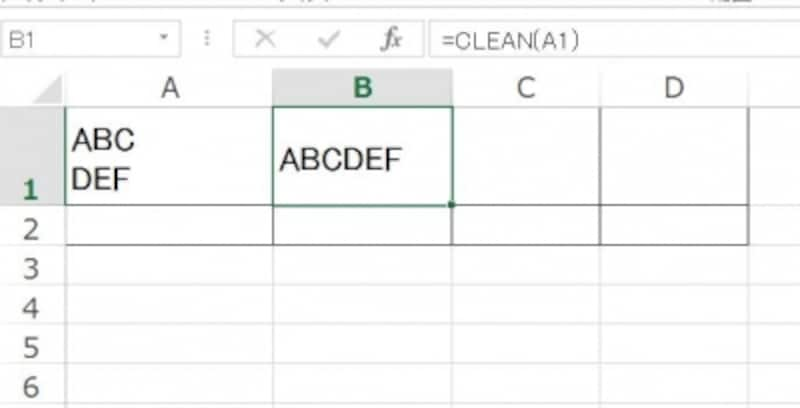 Excel 改行undefined削除undefined関数