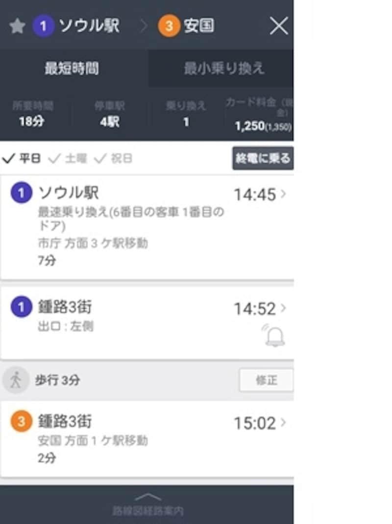 地下鉄乗車で便利なアプリ