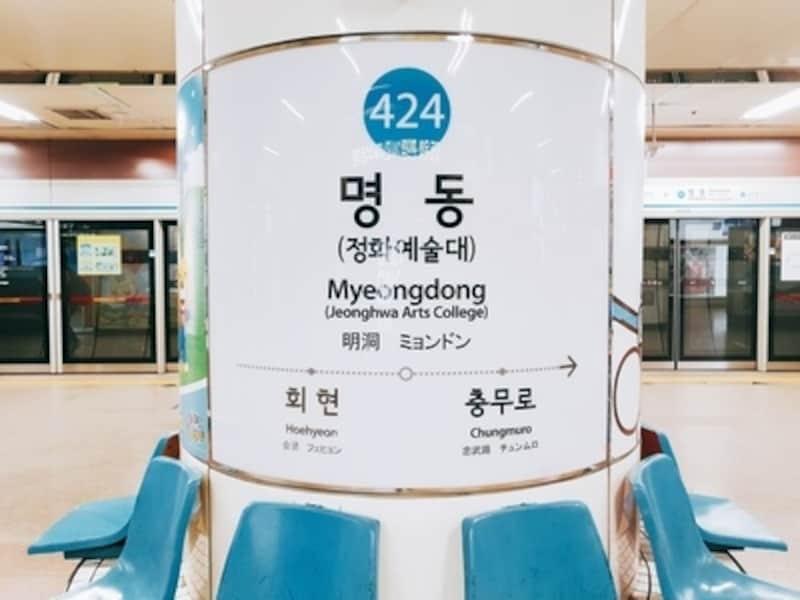 地下鉄駅標示板