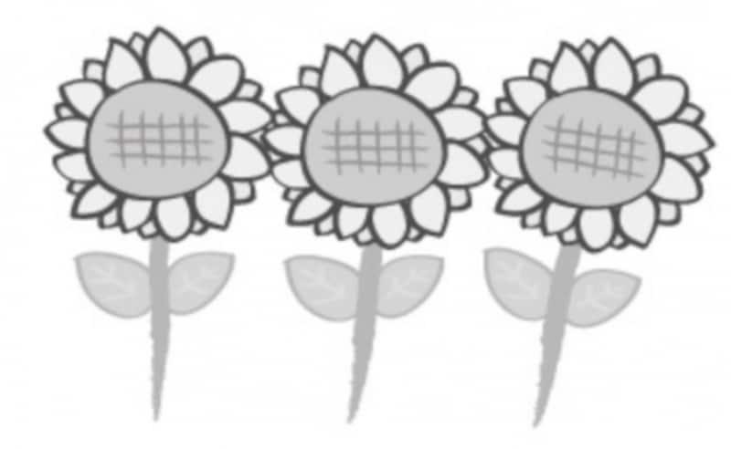 夏undefinedイラストundefinedかわいいundefinedフリーundefined無料undefinedひまわりundefined向日葵undefined白黒
