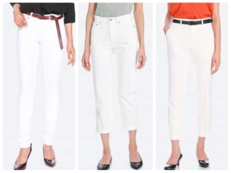 清潔感もオシャレ感もぐっとアップしてくれるのは白パンツ!