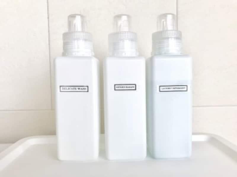 セリアのおすすめ収納グッズ:セリアの洗剤詰め替えボトル