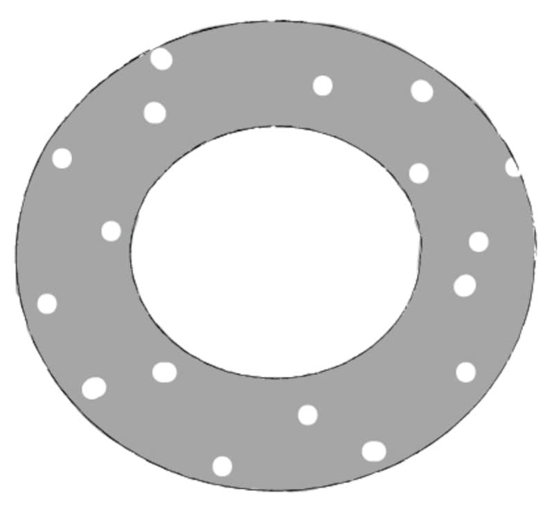 モノクロ/水玉模様の浮き輪です。