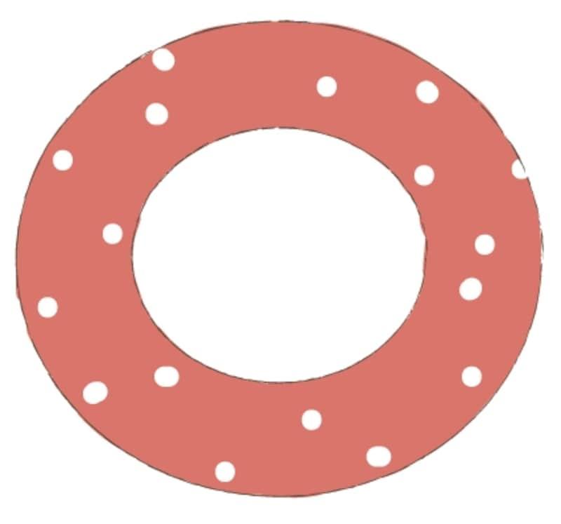 カラー/水玉模様の赤い浮き輪です。