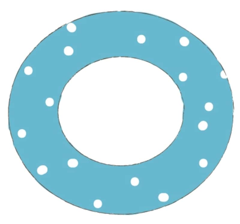 カラー/水玉模様の青い浮き輪です。