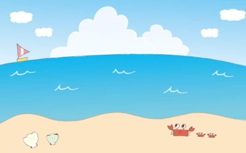 カラー/広がる海の景色です。
