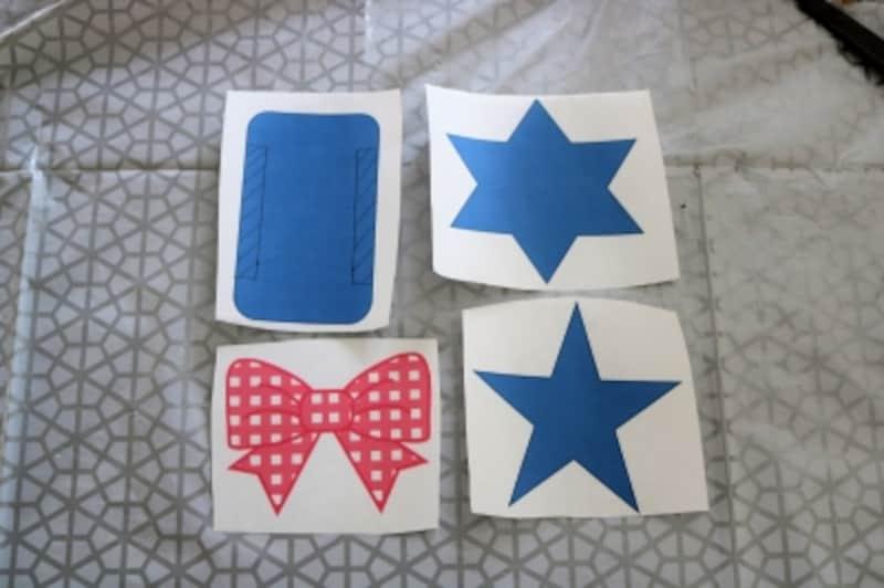 星のガーランドのモチーフの型紙
