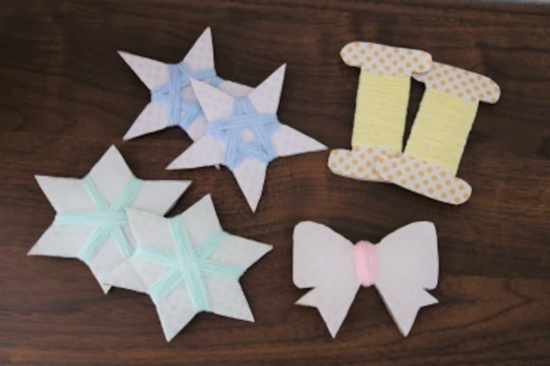 星の手作りガーランドの飾りは全部で7個です。