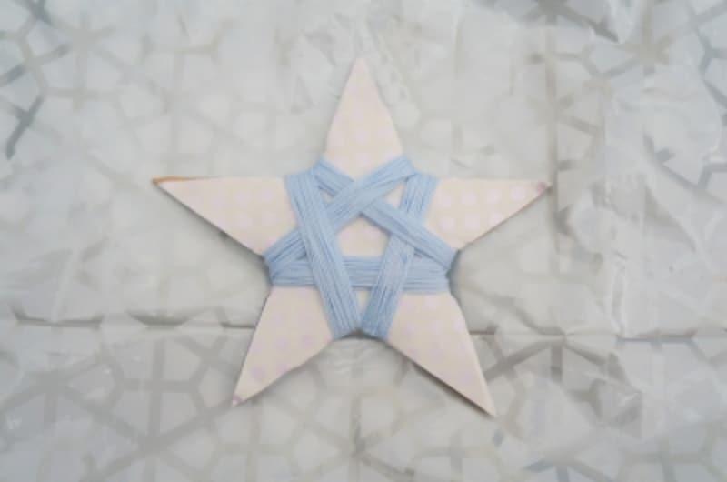 五星は5方向に糸を巻きます。