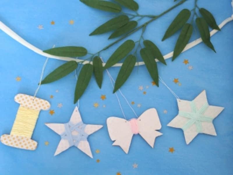 レース糸で作る手作りの星ガーランド