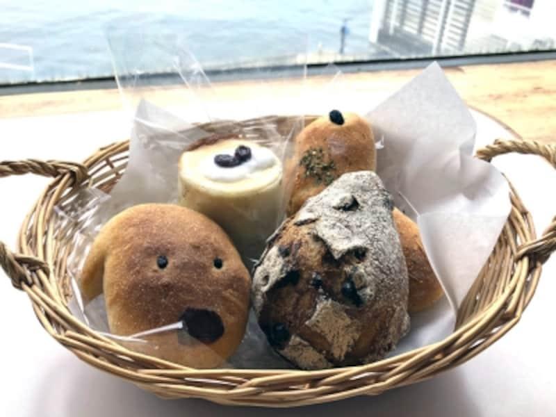 窓の外に海が広がるロケーションと自家製天然酵母のパンが人気