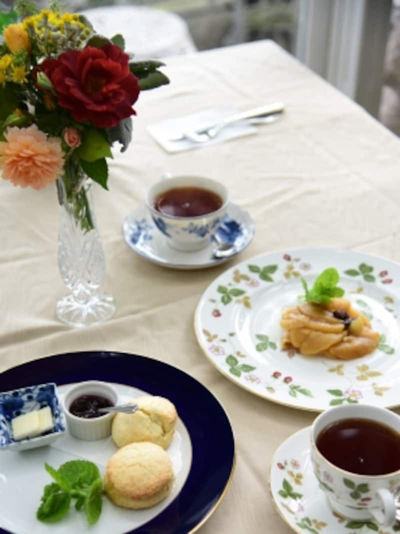 紅茶をいただきながら、優雅なひとときを