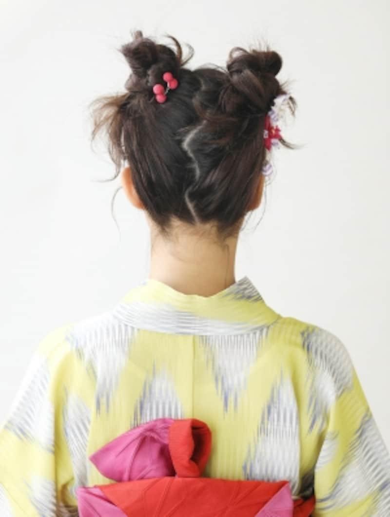 ミディアム浴衣・大人も似合う猫耳ヘアアレンジ