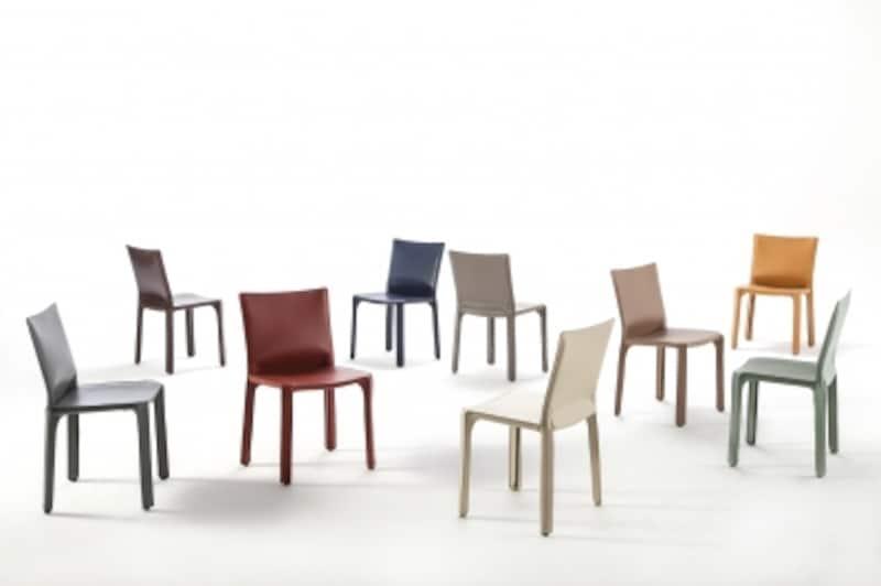 カッシーナ・キャブチェアー・革張りの椅子