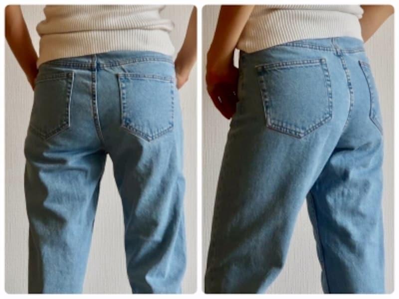 ヒップと太ももの付け根にゆとりがあるので安心して履ける