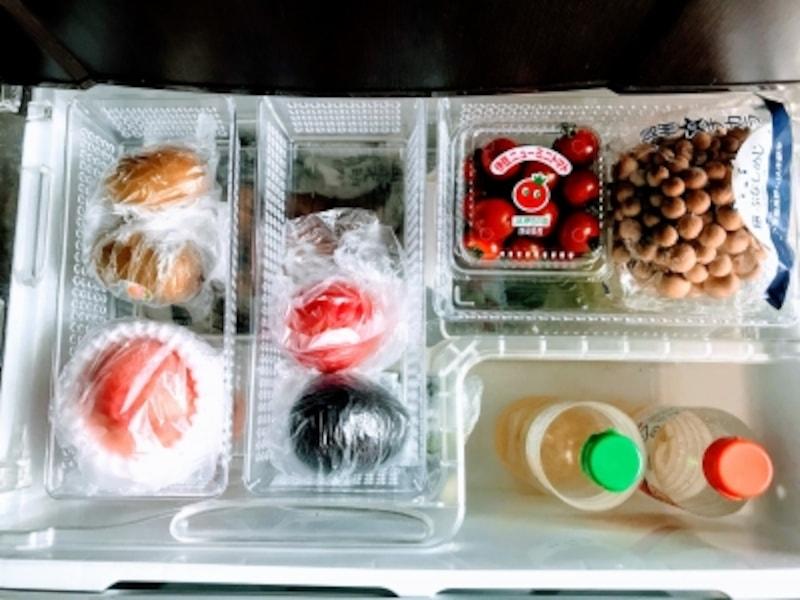 冷蔵庫の野菜室(上段トレー)