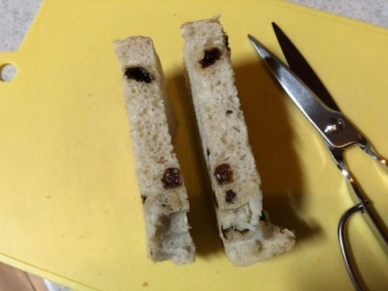 ふわふわのパンも、つぶさずにカットできる