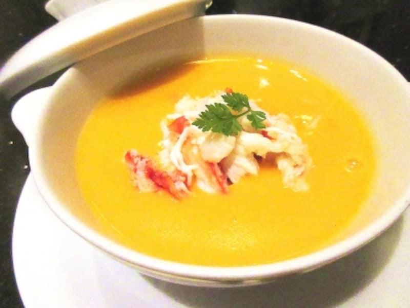 龍天門蟹肉入り蟹の卵のスープ