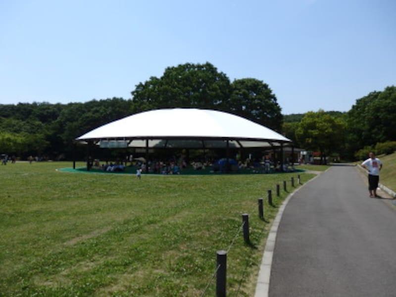 運動広場に設けられたドリームハウス