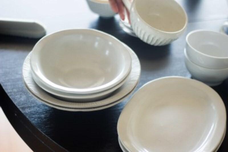 家族5人で同じお皿を使うことで、子供もお皿を大切に扱うように