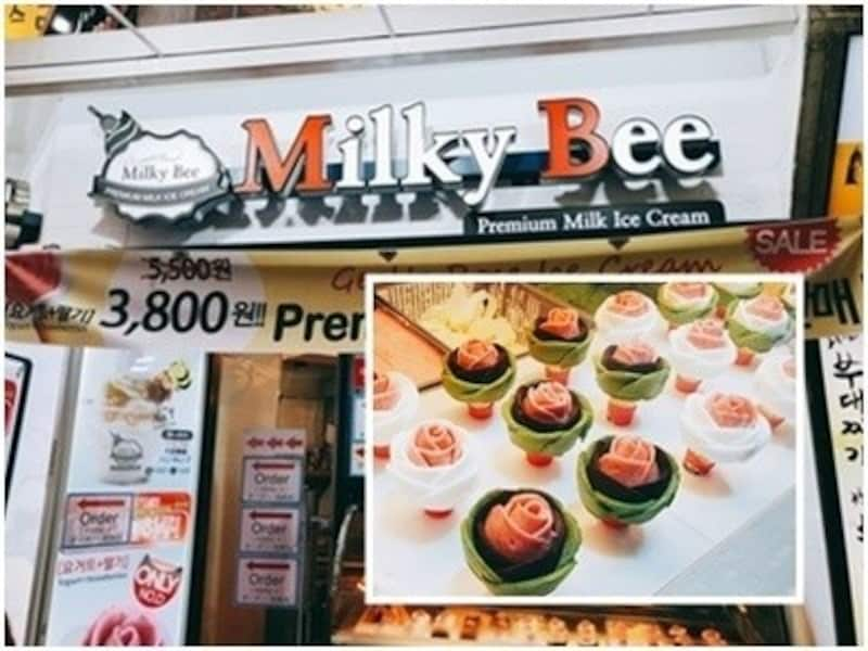 MilkyBeeの薔薇アイス
